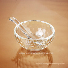 Fashion Crystal Glass Rice Bowl Craft for Tableware