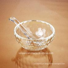 Ofício da bacia de arroz do cristal de vidro da forma para utensílios de mesa