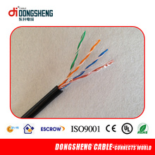 1000FT 4pair 0.51mm CCA / Cu Cable UTP al aire libre Cat5e
