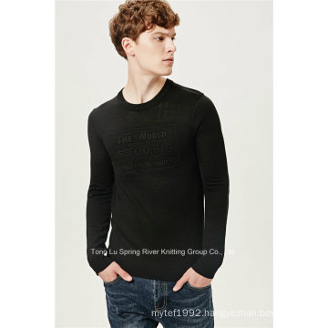 Acrylic Wool Fit Embossing Knit Men Sweater