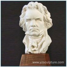 Musician Beethoven White Marble Bust Artwork