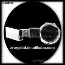 k9 3d laser de cristal USB flash disco BLKD595