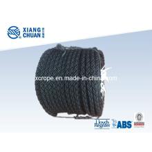8 Strand Black Nylon Mooring Rope