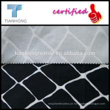 algodão preto geométrico do twill do spandex cetim weave estiramento estampados para calças slim de vestuário