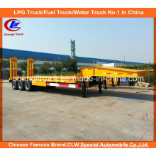 Heavy Duty 45ton 3 Axle Lowbed Semi Trailer with Mechanical Ramps