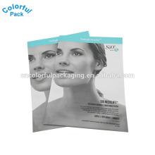 sacos faciais da máscara do colagénio / 3 sacos de empacotamento da selagem lateral / saco cosmatic da embalagem da embalagem