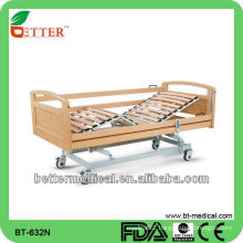 Homecare Electric Adjustable wooden Bed with Two Functions