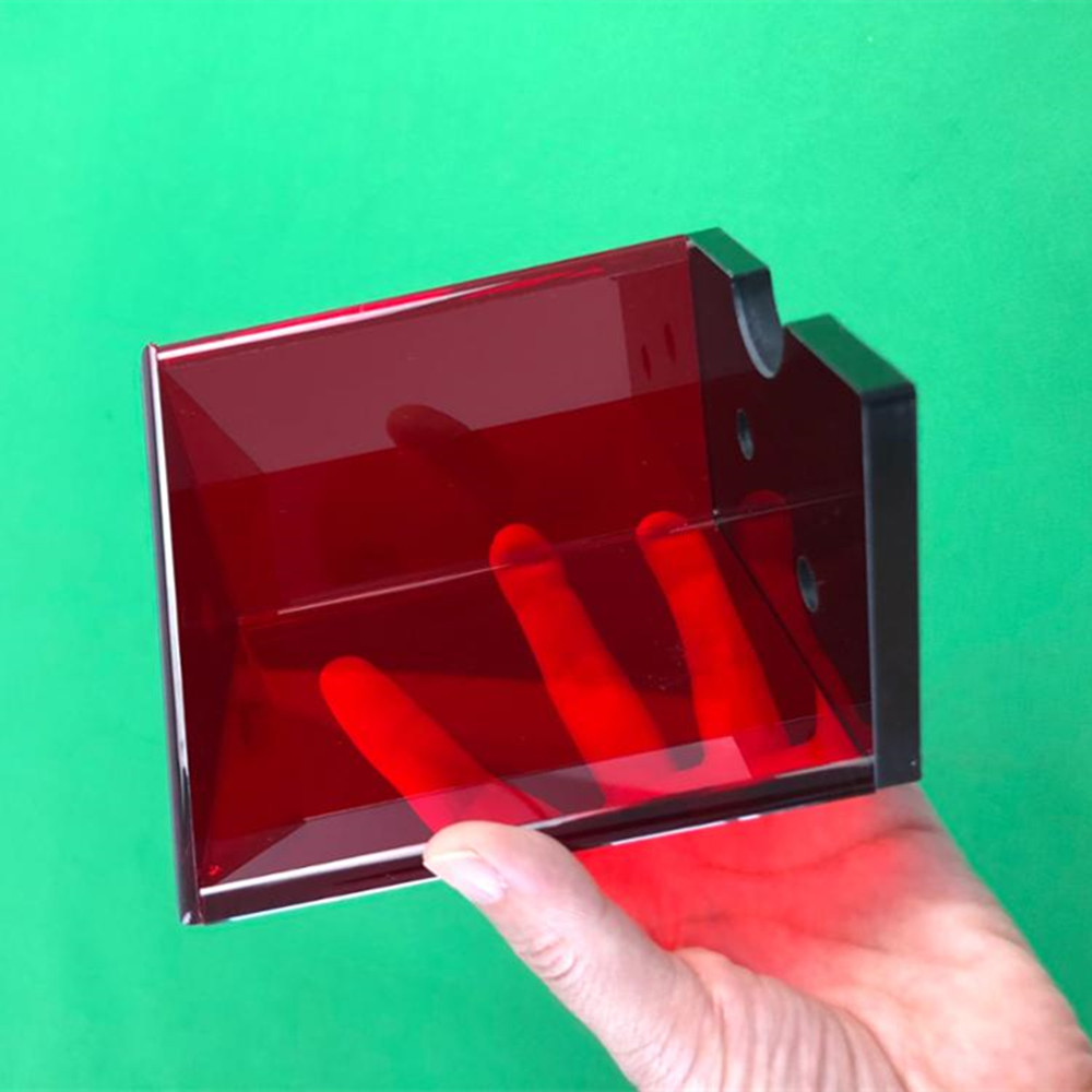 Red Acrylic Casino Blackjack Discard Holder