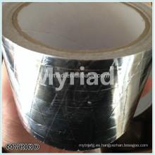 Papel de aluminio cinta de papel kraft, reflectante y plata Material de material para techos Laminado de aluminio frente laminación