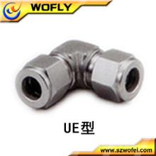 Tubulação do aço inoxidável do equipamento do gás cotovelo da união de 90 graus