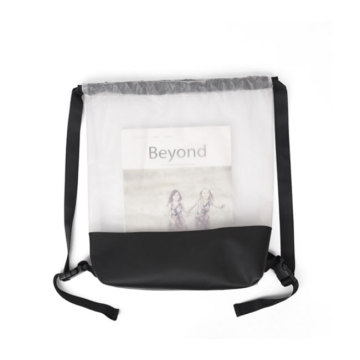 Sac de cordon transparent transparent en PVC imperméable