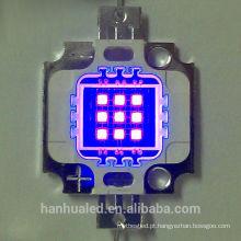 A luz roxa uv conduzida uv da lâmpada 10w do diodo do poder superior de 395-405nm conduziu a luz de microplaqueta