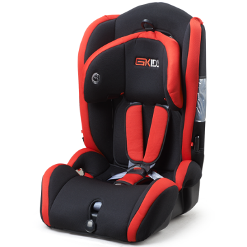 Baby car seat with blue-grey cover
