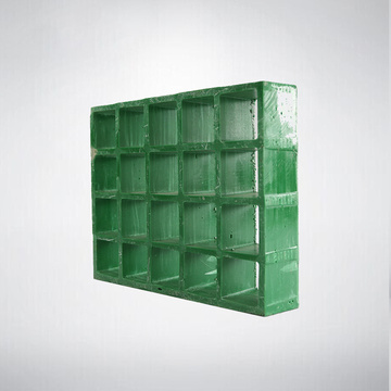 Kekuatan Tinggi 38mm FRP Moulded Grating Fiberglass Plastic Grating