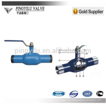 Stahlkugelhahn und Schneckengetriebe