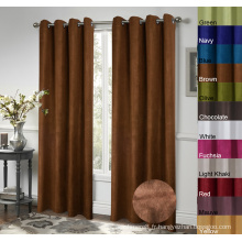 100% Polyester Suede Window Rideaux