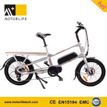 MOTORLIFE / OEM EN15194 VENTE CHAUDE 48 v 500 w 20 pouces mi-moteur tricycle électrique de cargaison
