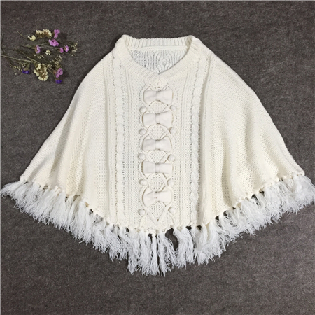 adults sweater poncho-1