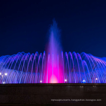 music fountain with led lights