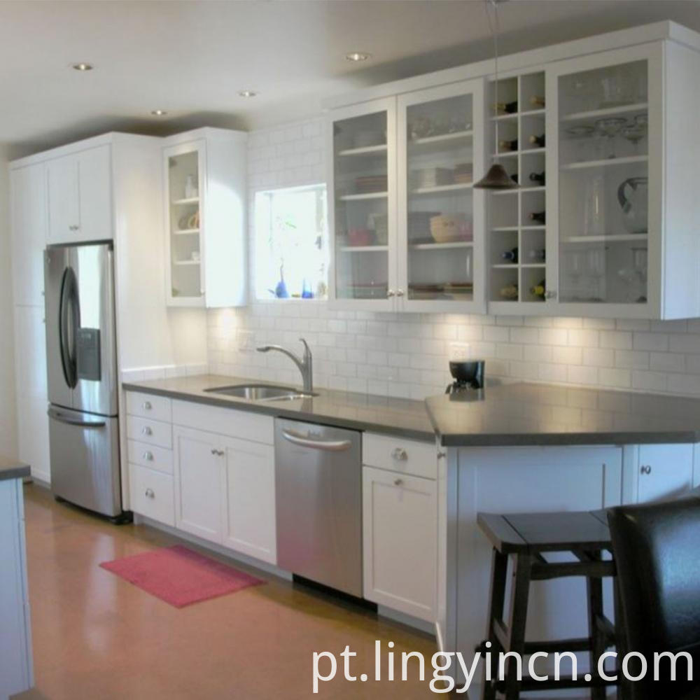 Modern apartment lacquered kitchen cabinet 2