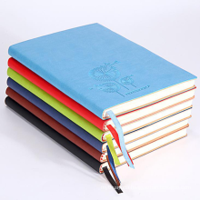 Custom your own logo 120gsm 80 sheets leather hardcover pu cover paper notebook