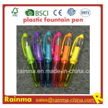 Caneta-tinteiro de plástico mini com cor agradável Mulit