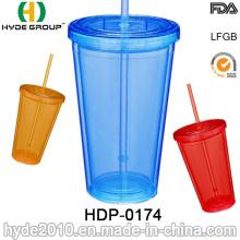 20oz barato parede dupla copo plástico para promoção (HDP-0174)