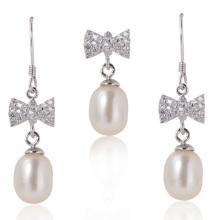 Ensembles de bijoux en perles, perles blanches