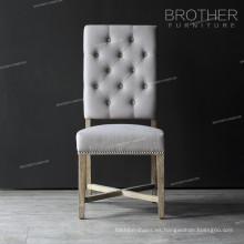 Fabricante de muebles copetudo silla de comedor de madera