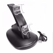 Черный свет водить быстрая двойной USB зарядка Док стенд зарядное устройство для PlayStation 3 для PS3 контроллер консоли