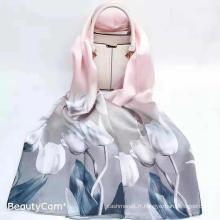 Écharpe en soie de luxe 100 Mulberry pour femme