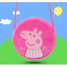 Dessin animé cochon en peluche cartable jouet broderie sac à dos