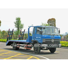 Dongfeng 145 cama plana camiones de remolque, hecho en China cama plana camión