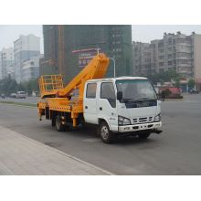 Chinese ISUZU telescoping boom lift work platform vehicle