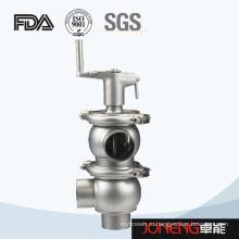 Нержавеющая сталь Санитарный ручной тип Flow Diversion Valve (JN-FDV2005)