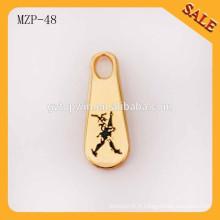 MZP48 Alibaba Chine vêtement de mode accessoire personnalisé en métal fermeture à glissière
