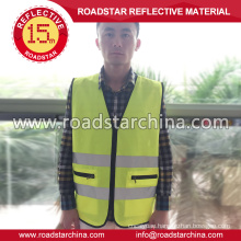 high visiblity yellow reflective safety vest