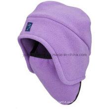 Sombrero / casquillo polar hechos punto calientes del paño grueso y suave del invierno caliente de la venta