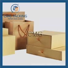 Brown Kraft Pape Bag and Paper Box (DM-GPBB-070)
