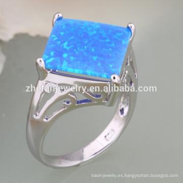 diseño de flores modelado joyas anillo de ópalo