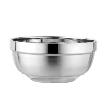 Cuenco de arroz de metal de acero inoxidable 304