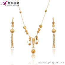 63354 fashion best selling bead jewelry making supplies 18k copper alloy earring and necklace women jewelry sets