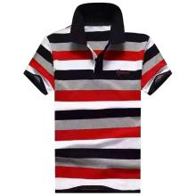 2016 mode homme fil teint rayé polo