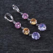 Boucles d'oreilles en or argent plaqué or zircon de qualité AAA Zircon
