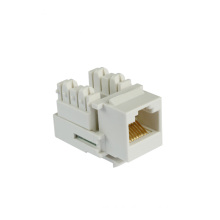Tool-less gold plate utp rj45 cat5e keystone jack