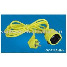 EXTENSIÓN CABLE línea extendiendo zócalo del cable eléctrico
