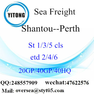 Shantou Port Sea Freight Shipping ke Perth