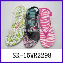2015 new stylish fashion flat sandals women's sandals jelly sandals