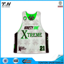 Hight Quality Cheap Price Custom Made Sublimation Youth's Reversible Lacrosse Jersey