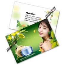 2015 Green Fashional Clear Plastic Tarjetas de visita